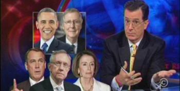 Colbert: 'Not Blinking' 'Michele Bachmann Has Been Training Her Entire Life For This'