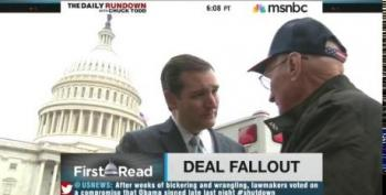 Cruz Stages Photo Op Outside Capitol Greeting Visitors After Government Reopens