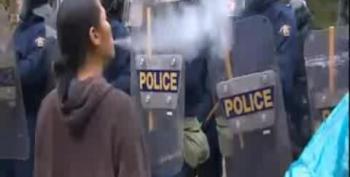 40 Arrested At Anti-Fracking Protest, Cop Cars Set Afire