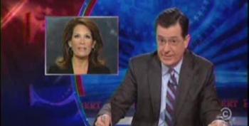 Colbert Skewers Bachmann For Calling Herself A Genius