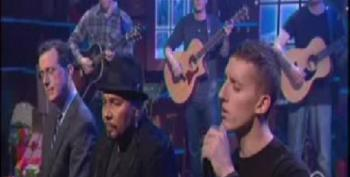 Colbert, Aaron Neville And MusiCorps Wounded Warrior Band Perform 'Silent Night'