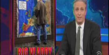 Stewart Rips Fox Pundits For Their Man Crush On Putin