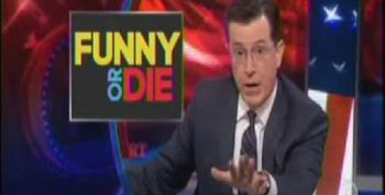 Colbert Makes A Mockery Of Right Wing Outrage Over Obama's Funny Or Die Interview