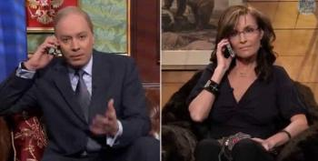 Sarah Palin Talks To 'Neighbor' Vladimir Putin On The Tonight Show