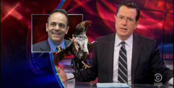 Colbert Takes Up For McConnell Challenger Bevin Attending Cockfighting Rally