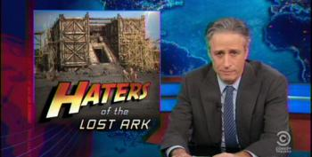 Stewart Slams Fox 'Noah' Critics: 'Oh Right, They Didn't See The F**king Movie'