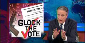 'Glock The Vote': Daily Show Pans Wingnuts' Extreme Campaign Ads
