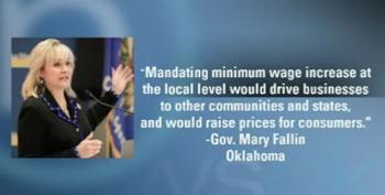 Gov. Mary Fallin Signs Minimum Wage Hike Ban In Oklahoma