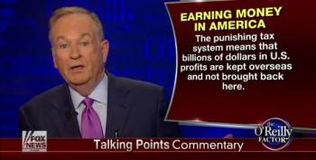 Bill O'Reilly Blames Income Inequality On Taxes Being Too High