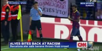 Soccer Star Eats Banana Thrown At Him In Perfect Response