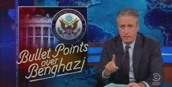 Jon Stewart Takes Apart Fox For Hypocritical Fake Outrage On Benghazi
