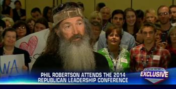 Hannity Lauds Duck Dynasty Wingnut Robertson's Appearance At Republican Leadership Conference