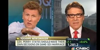 CNBC Hosts Destroys Rick Perry On Comparing Gay Marriage To Alcoholism