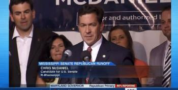 McDaniel Refuses To Concede Republican Primary For U.S. Senate (Full Speech)