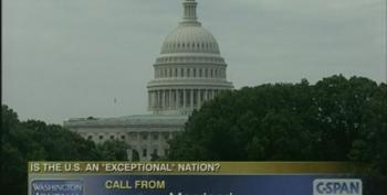 Wingnut C-SPAN Caller: Obama Thinks He's An Emperor