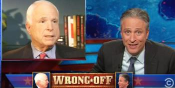 Jon Stewart Challenges John McCain To 'Wrong Off' To See Who's Wrong More