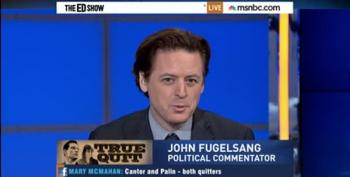 Ed Schultz, John Fugelsang Mock Eric Cantor: 'He's Pulling The Palin!'