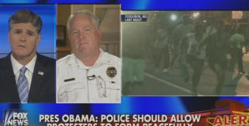 Fox's Hannity Lets Ferguson Police Chief Lie That 'Not A Single Protester Has Been Injured'