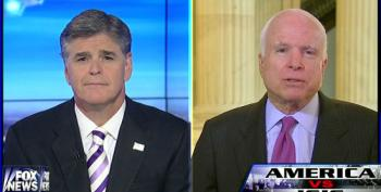 Hannity Starts To Go After McCain For Not Knowing Who We're Arming In Syria, Then Weasels Out And Attacks Obama
