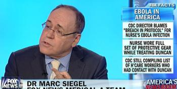 Fox News' Siegel On Ebola: Government Needs To Step  Up To The Plate