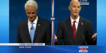 Rick Scott Explains Why He Delayed Debate Over Crist's Fan