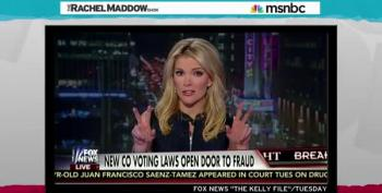Rachel Maddow Calls Out Fox's Megyn Kelly For Promoting Fictitious Colorado Voting 'Scandal'