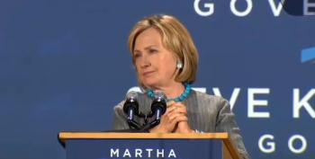 Hillary Clinton Slams Trickle-Down Economics At Coakley Rally