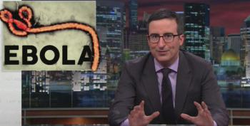 John Oliver: Don't Eat Mystery Mucus In The Street Until This Ebola Panic Is Over