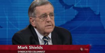 Mark Shields Rattles Off Right Wing Talking Points On 'Ineptitude' Of Government