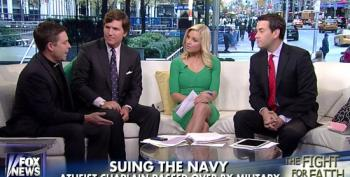 Fox Pundits Complain About Atheist Suing Navy After Being Rejected As Chaplain