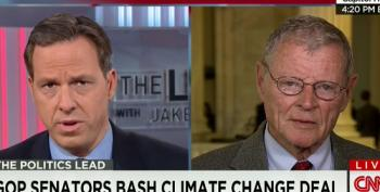 Jake Tapper Corrects James Inhofe's Climate Change Denial