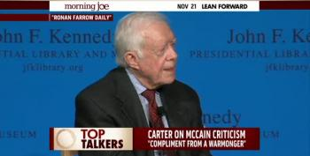 President Carter Smacks Down 'Warmonger' McCain