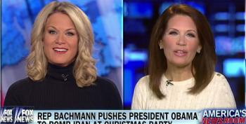Bachmann Asks Obama At WH Christmas Party To Bomb Iran