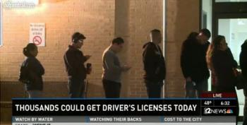 Thousands Of  Dreamers Line Up For Driver's Licenses In Arizona