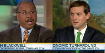 Russert And Blackwell Downplay Good News On The Economic Front