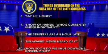 Late Show: Top Ten Things Overheard On The First Day Of The 114th Congress