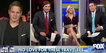 Fox's Carlson Calls Man A Liar Who Says He Didn't Hit On Female Traveling Companion