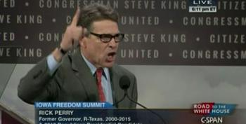 Protesters Interrupt Rick Perry At Iowa Freedom Summit