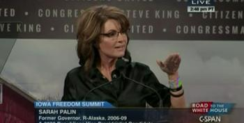 Palin At Iowa Summit: 'The Man Can Only Ride You When Your Back Is Bent'