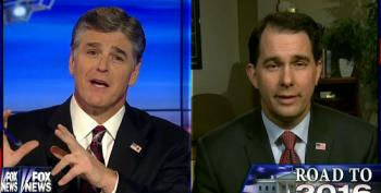 Hannity Gets Googly-Eyed Over Corrupt Scott Walker