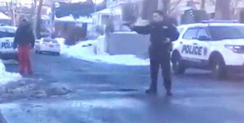 Video: Police Appear To Draw Guns On Black Kids Throwing Snowballs