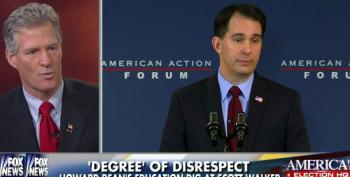 Scott Brown Defends Walker's Lack Of Education