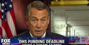 Boehner Prepared To Let DHS Funding Expire And Blame Senate Democrats
