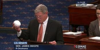 James Inhofe Trolls On The Senate Floor With A Snowball