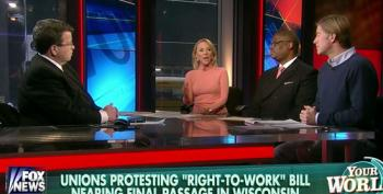Fox Cheap Labor Shills Continue To Lie About 'Right To Work' Laws