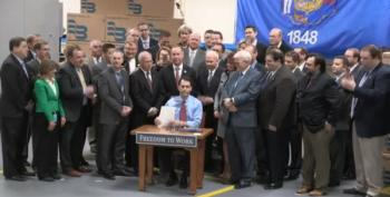 Scott Walker Signs Right To Work Into Law