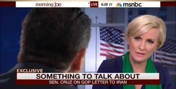 Mika Brzezinski Confronts Ted Cruz Over Iran Letter: Leads Down 'The Road Of War'