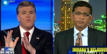 Hannity And D'Souza Spread Lies About Indiana's 'Religious Freedom' Law