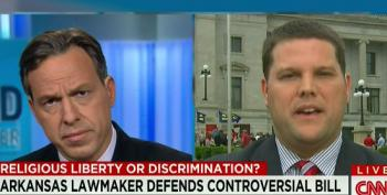Jake Tapper Pushes AR Lawmaker To Explain How Anti-Gay Law Is Not Discriminatory