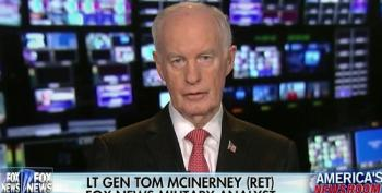 Fox Lt Gen Attacks President Obama For Honoring Bush's Status Of Forces Agreement